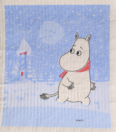 Dishcloth Moomin Snow