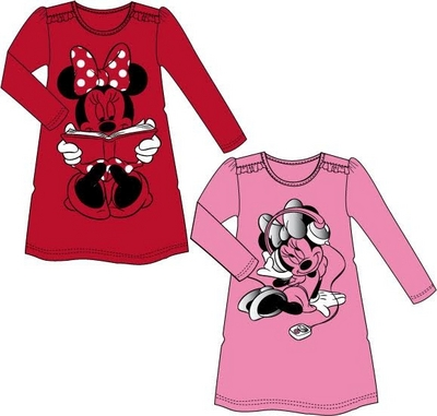 Disney Minnie nightgown 92-122cm, red or pink