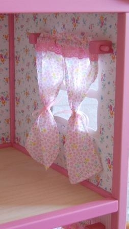 "Doll House ""Villa Ruusu"", drapes 2-set"