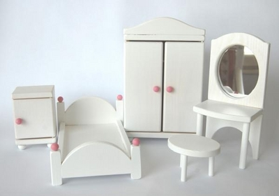 "Doll House ""Villa Ruusu"" bedroom furniture, 5pc"