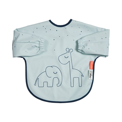 Done By Deer Dreamy dots long sleeve bib 6-18months, blue