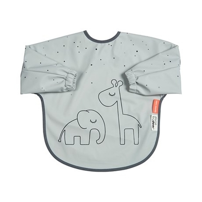 Done By Deer Dreamy dots sleeved bib 6-18 months, grey