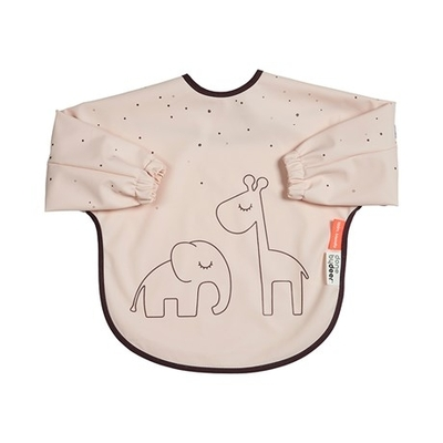 Done By Deer Dreamy dots sleeved bib 6-18 months, powder