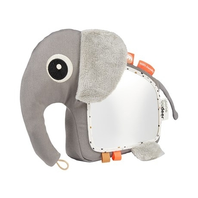 Done By Deer Elphee activity toy with a mirror, grey