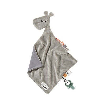 Done By Deer Giraffe Raffi tag blanket, grey
