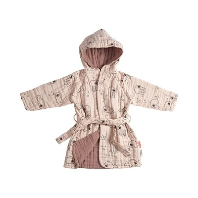 Done By Deer Sea Friends bathrobe 1-2 year-olds, powder