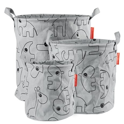 Done By Deer storage basket set of 3, grey