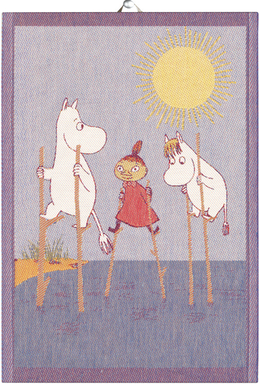 "Ekelund Moomin Kitchen Towel 35x50cm, ""Stilts"""