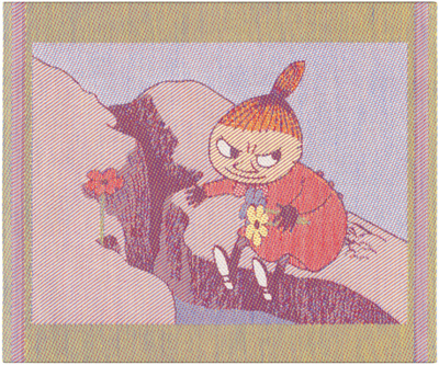 "Ekelund Moomin Kitchen towel ""Flowers"", fabric, 30x25"