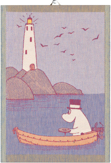 "Ekelund Moomin kitchen towel ""Row the boat"", 35x50cm"