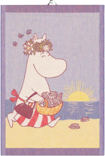 "Ekelund Moomin kitchen towel ""Summerday"", 35x50cm"