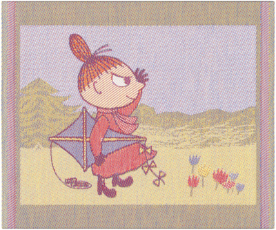 "Ekelund Moomin kitchen towel ""Windy"", fabric, 30x25"