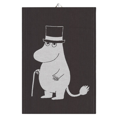 "Ekelund Moomin organic cotton kitchen towel ""Big Moominpappa"" 35x50cm"