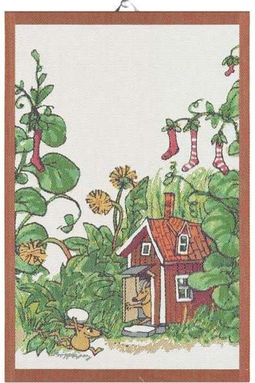 "Ekelund Pettson and Findus big kitchen towel ""Mucklor"" 40x60cm"