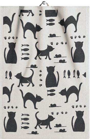"Ekelund Towel 35x50cm ""Kattliv"""