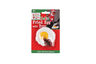Elves Behavin´Badly prank item, fried egg with bug