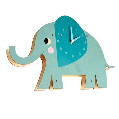Elvis elephant wooden wall clock