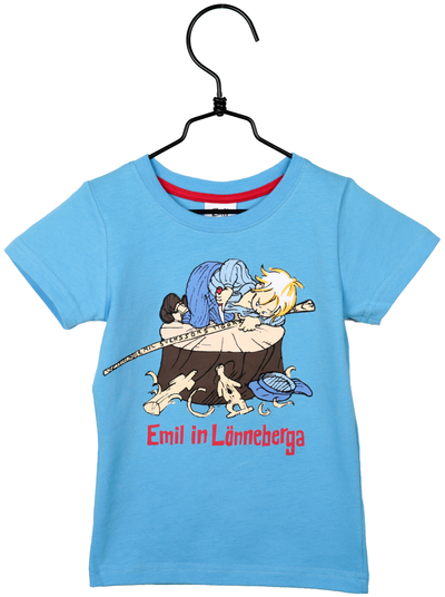 "Emil ""Carving"" t-shirt, light blue"