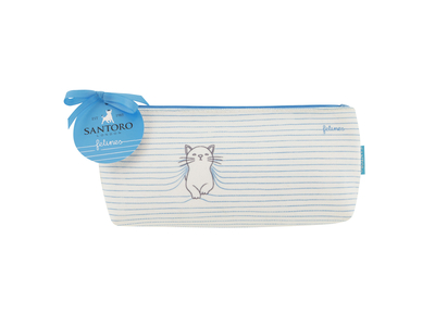 Felines make up pouch Purrrfect Place, blue