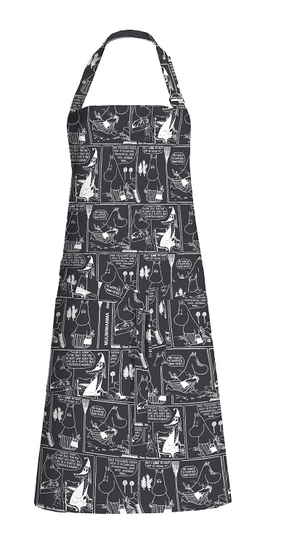 Finlayson Comic apron, black/white