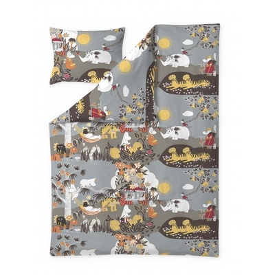 Finlayson Jungle Moomin duvet cover set, brown