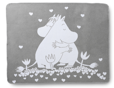 Finlayson Love Moomin throw blanket 120x170cm, grey