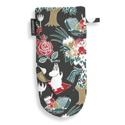 Finlayson Magic Moomin Oven Mitt, black/red