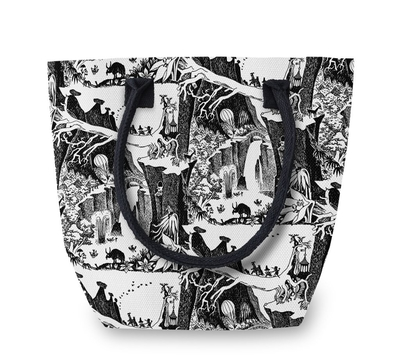 Finlayson Moomin Adventure Large Canvas Bag, black/white
