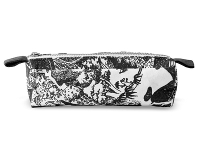 Finlayson Moomin Adventure make-up bag, small, black/white