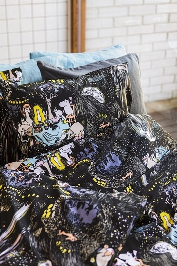 Finlayson Moomin Star duvet cover set, black