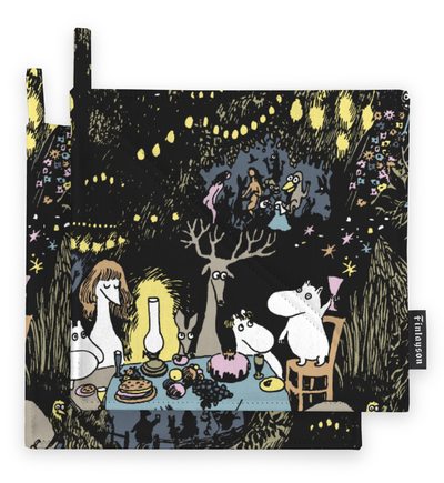 Finlayson Moomin Star potholders 2pcs, black/colorful