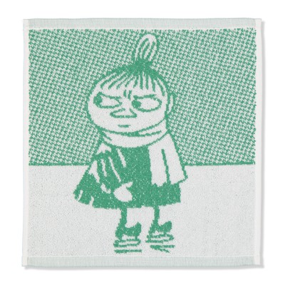 "Finlayson Moomin face towel Little My, green ""Straightforwardness"""