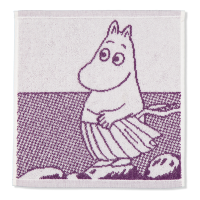 "Finlayson Moomin face towel Moominmamma, purple ""Broad-mindedness"""