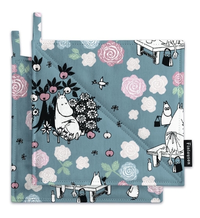 Finlayson Moominmamma dreaming -pot-holders set 2pcs, blue/grey