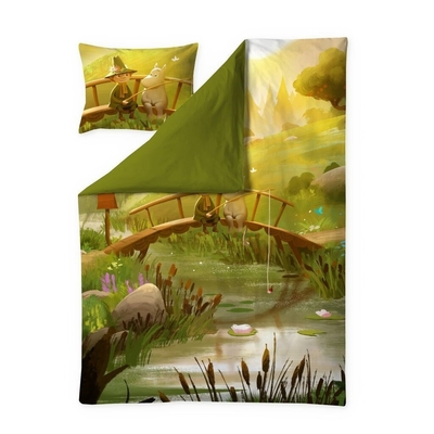 Finlayson Moominvalley Spring -satin duvet cover set
