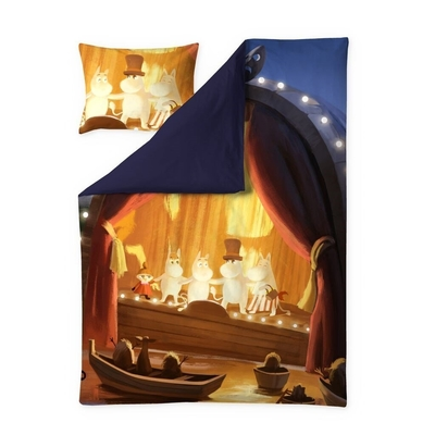 Finlayson Moominvalley Summer -satin duvet cover set