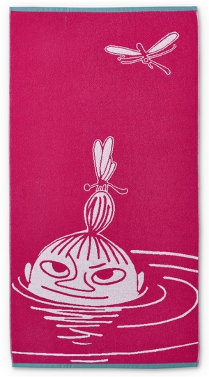 Finlayson bath towel Little My, pink,  70 x 140cm