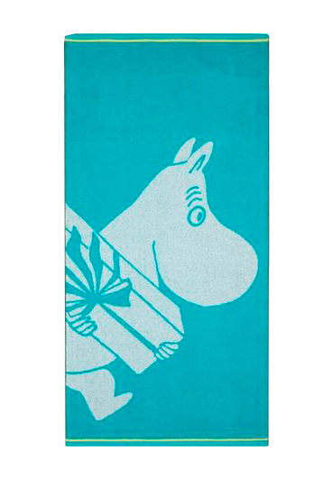 Finlayson bath towel Moomintroll and a gift, 70x140cm, turquoise