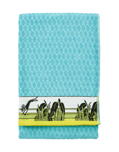 Finlayson bath towel Tropical Moomin 70x140cm, turquoise