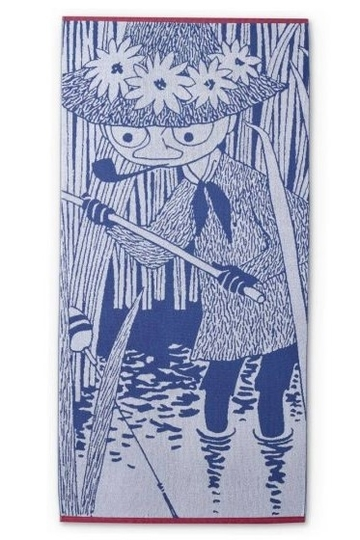 Finlayson big bath towel 90x180cm, Snufkin fishing