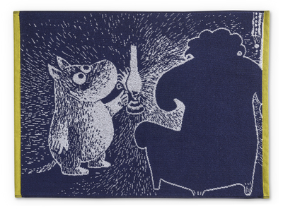 Finlayson big hand towel, Moomin and ancestor, dark blue