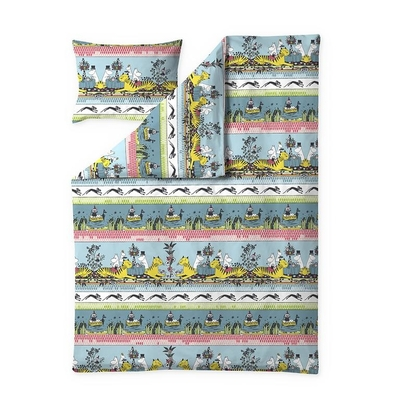 Finlayson duvet cover set Tropical Moomin, turquoise