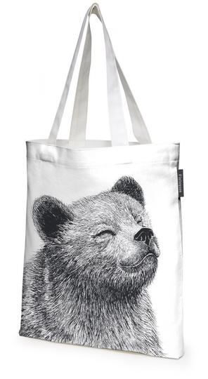 Finlayson fabric bag bear and hedgehog 36x42 cm