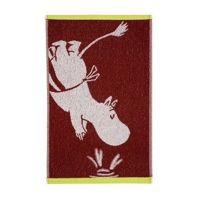 Finlayson hand towel 30x50cm, Moominmamma diving, red