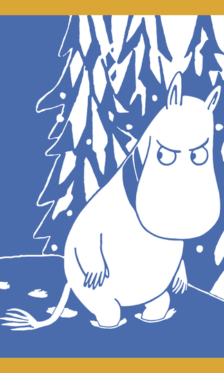 Finlayson hand towel 30x50cm, Moomintroll and snow