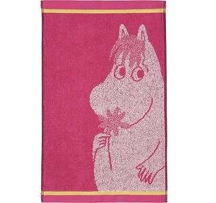 Finlayson hand towel 30x50cm Snorkmaiden and flower, pink