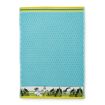 Finlayson hand towel Tropical Moomin 50x70cm, turquoise