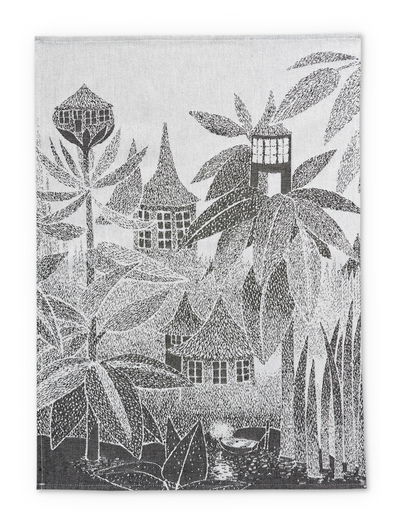 Finlayson kitchen towel Toffle's house, black/white