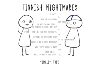 "Finnish Nightmares Postcard - ""Small"" Talk"