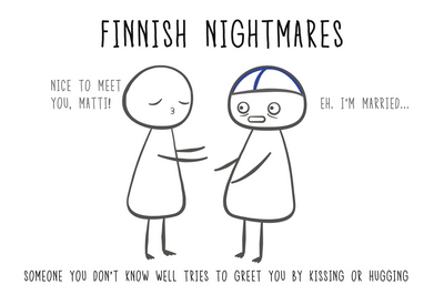 Finnish Nightmares Postcard - Nice to meet you, Matti!